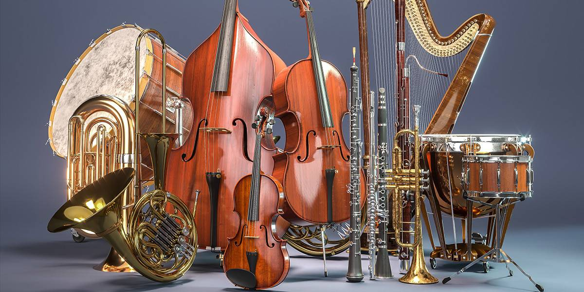 Instruments in an orchestra